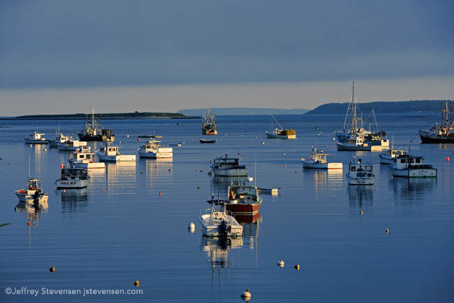 evening slack tide and still water, Port Clyde Harbor, Maine