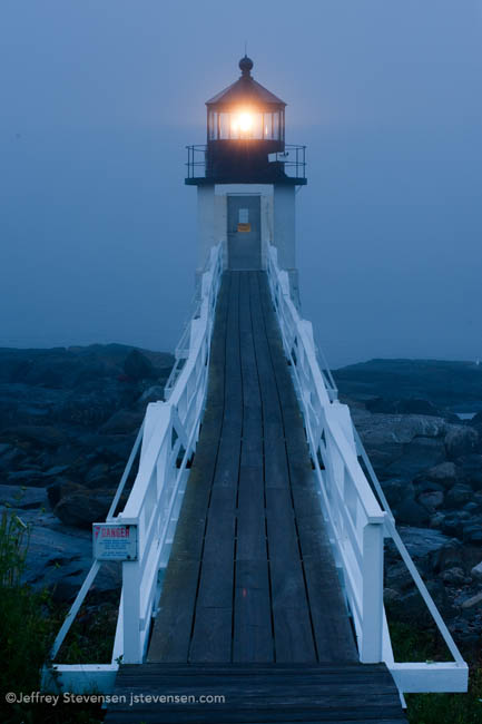 Marshall Point Light And Fog, Early Dawn