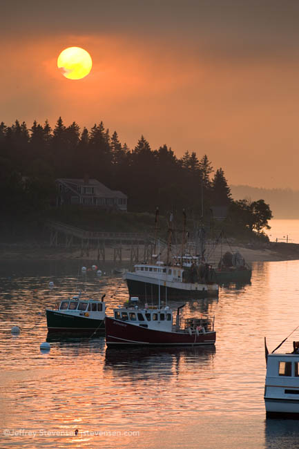 Sun Through The Fog, Port Clyde Harbor, Maine