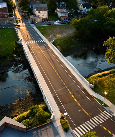 BL Companies design of Richmond Hill Avenue Bridge over the Mill River in Stamford, Connecticut.